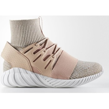 Shoes Men Hi top trainers adidas Originals Tubular Doom Primeknit Pale Nude Beige, Pink