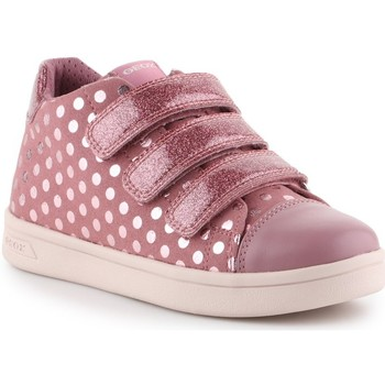 Shoes Children Low top trainers Geox J Djrock GD Pink