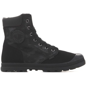 Shoes Women Mid boots Palladium Pampa HI Knit LP Black