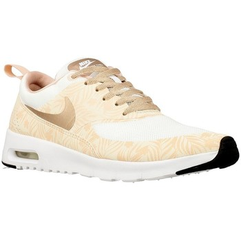 Shoes Children Low top trainers Nike Air Max Thea Print White, Pink