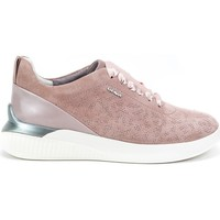 Shoes Women Low top trainers Geox Theragon Pink