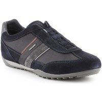 Shoes Men Low top trainers Geox Wells A Black