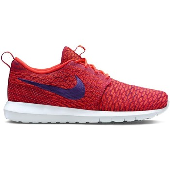 Shoes Men Low top trainers Nike Flyknit Rosherun Red,Violet