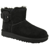 Shoes Women Ankle boots UGG Mini Bailey Fluff Buckle Black