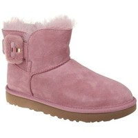 Shoes Women Snow boots UGG Mini Bailey Fluff Buckle Pink