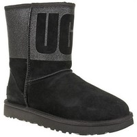 Shoes Women Snow boots UGG Classic Short Sparkle Black
