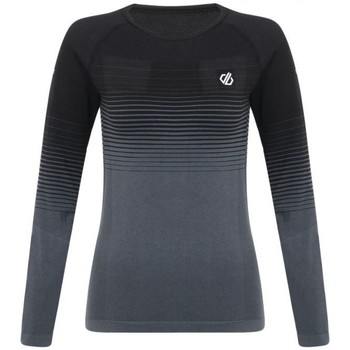 Clothing Women Long sleeved tee-shirts Dare 2b In The Zone Performance Base Layer Set Black Black Black