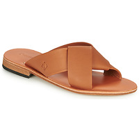 Shoes Women Mules Dream in Green MARNITO Camel