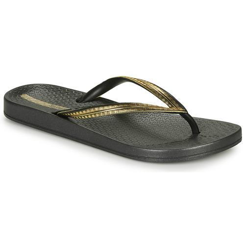 Shoes Women Flip flops Ipanema MESH IV Black / Gold