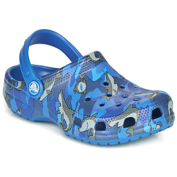 Shoes Boy Clogs Crocs CLASSIC SHARK CLOG Blue