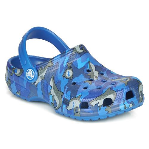 Shoes Boy Clogs Crocs CLASSIC SHARK CLOG Blue