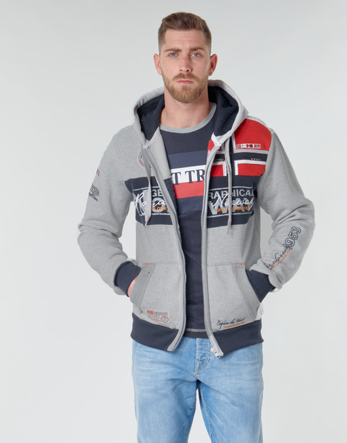 Clothing Men sweaters Geographical Norway FLYER Grey / Mottled