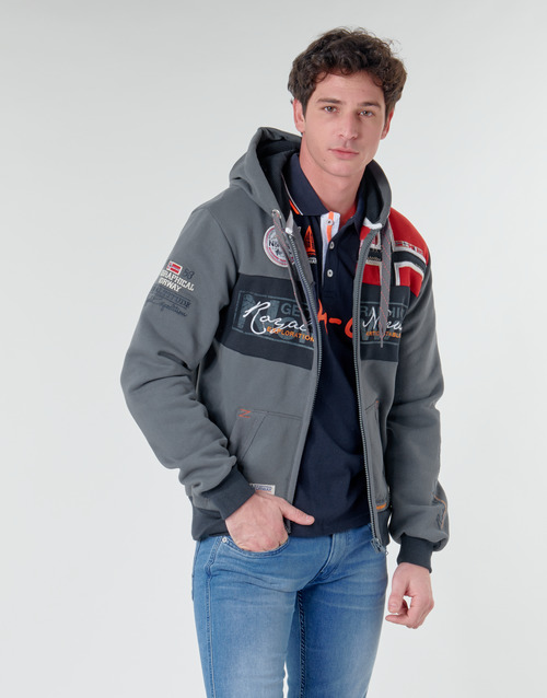 Clothing Men sweaters Geographical Norway FLYER Grey / Dark