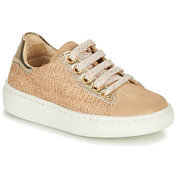 Shoes Girl Low top trainers Shoo Pom FLASH ZIP LACE Beige