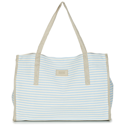 Bags Women Shopping Bags / Baskets Banana Moon ZENON WELINGTON White / Blue