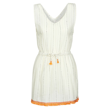 Clothing Women Short Dresses Banana Moon MARZUL MANDALO White / Orange