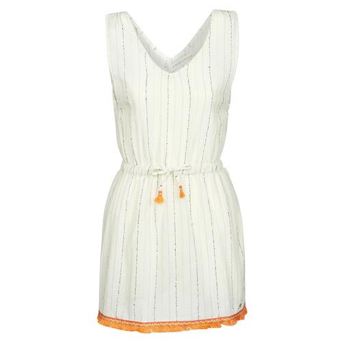 Clothing Women Short Dresses Banana Moon MARZUL MANDALO White / Orange