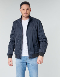 Clothing Men Jackets Geox TEVERE BOMBER JACKET Marine