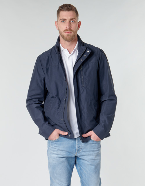 Clothing Men Jackets Geox VINCIT SHORT JACKET Marine