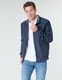 Clothing Men Jackets Geox VINCIT BOMBER JACKET Marine
