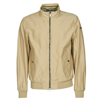 Clothing Men Jackets Geox VINCIT BOMBER JACKET Beige