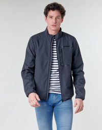 Clothing Men Jackets Geox OTTAYA JKT Marine / Black