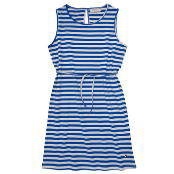 Clothing Girl Short Dresses Deeluxe STRIPSTIME White / Blue