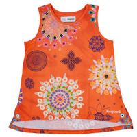 Clothing Girl Tops / Sleeveless T-shirts Desigual TULANCINGO Orange
