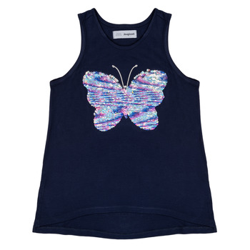 Clothing Girl Tops / Sleeveless T-shirts Desigual MARIPOSA Marine
