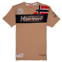 Clothing Boy Short-sleeved t-shirts Geographical Norway JIDNEY Beige