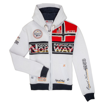 Clothing Boy Sweaters Geographical Norway FLYER White