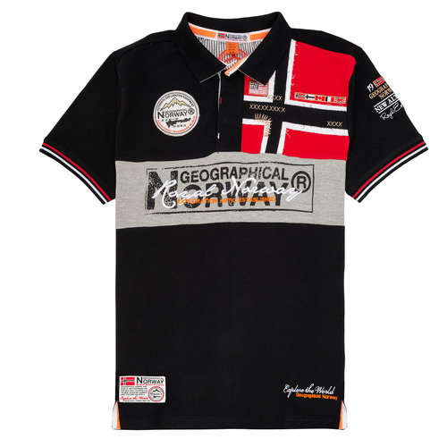 Clothing Boy Short-sleeved polo shirts Geographical Norway KIDNEY Black