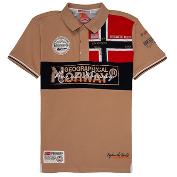 Clothing Boy short-sleeved polo shirts Geographical Norway KIDNEY Beige
