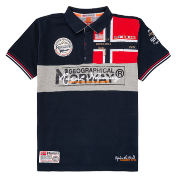 Clothing Boy Short-sleeved polo shirts Geographical Norway KIDNEY Marine