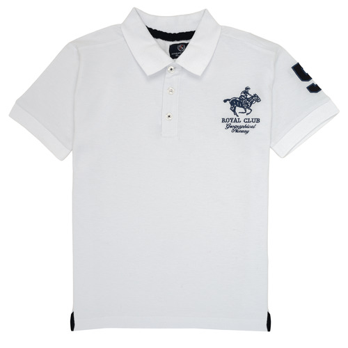 Clothing Boy short-sleeved polo shirts Geographical Norway KAMPAI White