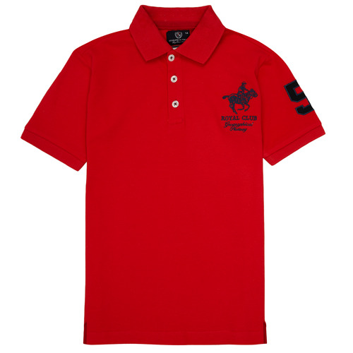 Clothing Boy Short-sleeved polo shirts Geographical Norway KAMPAI Red