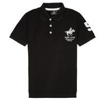Clothing Boy short-sleeved polo shirts Geographical Norway KAMPAI Black