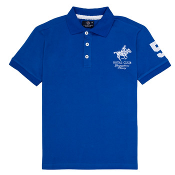 Clothing Boy Short-sleeved polo shirts Geographical Norway KAMPAI Blue