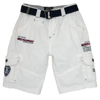 Clothing Boy Shorts / Bermudas Geographical Norway POUDRE White