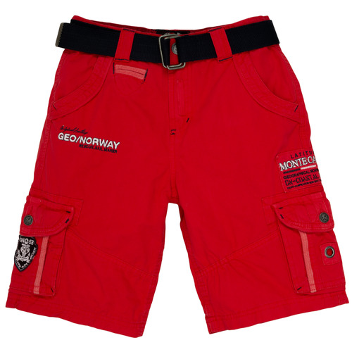 Clothing Boy Shorts / Bermudas Geographical Norway POUDRE Red