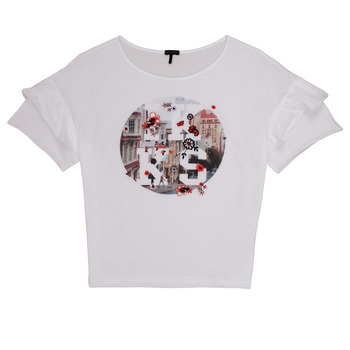 Clothing Girl short-sleeved t-shirts Ikks DIBILIOU White