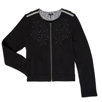 Clothing Girl Jackets / Cardigans Ikks LOUKAS Black
