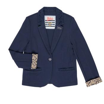 Clothing Girl Jackets / Blazers Ikks NIKO Marine
