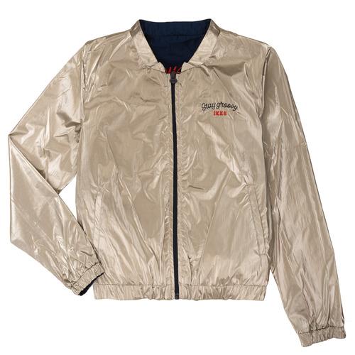 Clothing Girl Jackets Ikks PAULETTE Marine / Gold