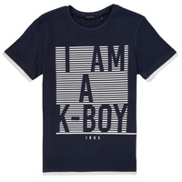 Clothing Boy short-sleeved t-shirts Ikks AURELIE Marine