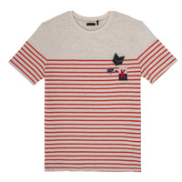 Clothing Boy Short-sleeved t-shirts Ikks PATRICK White / Red