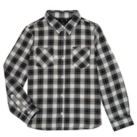 Clothing Boy long-sleeved shirts Ikks LEO Black / White