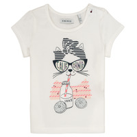 Clothing Girl Short-sleeved t-shirts Ikks MEOLIA White