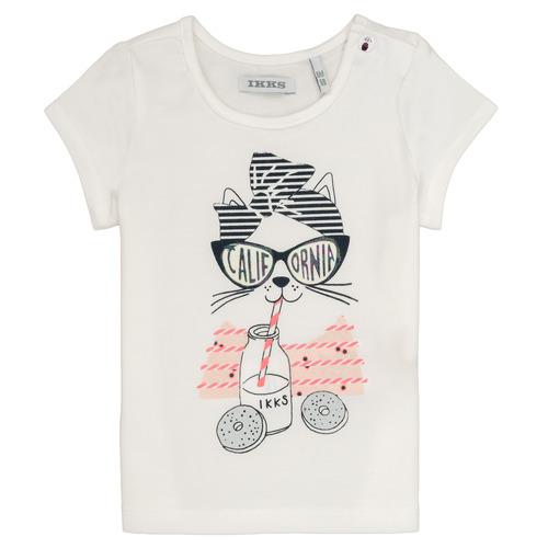 Clothing Girl short-sleeved t-shirts Ikks MEOLIA White