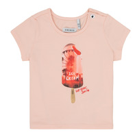 Clothing Girl short-sleeved t-shirts Ikks HIRIS Pink